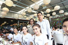 Miss Supranational Thailand 2017, Camping Trip and Activity. Phuket, Thailand - August 28, 2017 ; Miss Pageant Contest `Miss Supranational Thailand 2017` stock image
