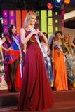 Miss Ukraina som slitage den nationella dräkten Royaltyfria Foton
