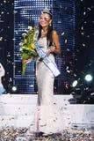 Miss Ukraine Universe. The happy winner of beauty contest Royalty Free Stock Photos