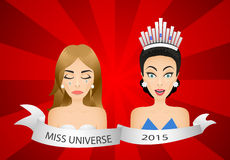 Miss universe 2015 contest. Wrong winner Royalty Free Stock Photos