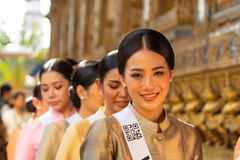 Miss Universe Thailand 2019, visit tour camping stock photography