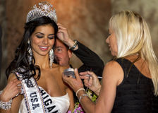Miss USA 2010. Rima Fakih (Miss Michigan USA) is crowned Miss USA 2010 at the Miss USA pageant held at Planet Hollywood Hotel and Casino in Las Vegas, Nevada Stock Images