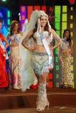 Miss USA som slitage den nationella dräkten Fotografering för Bildbyråer