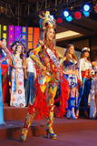Miss venezuela som slitage den nationella dräkten Royaltyfri Bild