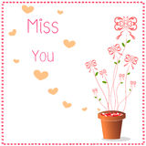 Miss you  background Stock Image