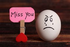 Miss you stock image