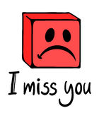 Miss you face. Creative design of miss you face stock illustration