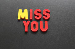 Miss you Stock Images