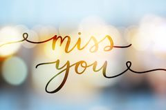 Miss you lettering Royalty Free Stock Photos