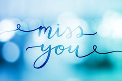 Miss you lettering Stock Photo