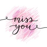 Miss you lettering Royalty Free Stock Photography