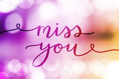 Miss you lettering Stock Images