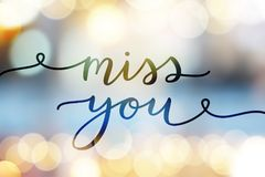 Miss you lettering Royalty Free Stock Photo