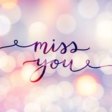 Miss you lettering Royalty Free Stock Image