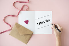 Miss You passion Relationship Romantic Concept Royalty Free Stock Photo