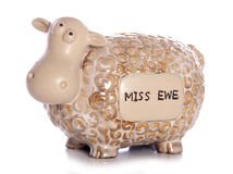 Miss you sheep ornament Royalty Free Stock Image