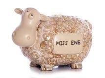 Miss you sheep ornament. Studio cutout Royalty Free Stock Image