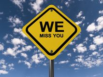 We miss you sign Royalty Free Stock Photography