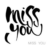 Miss you template Stock Photography