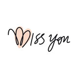Miss you, text, hand lettering. Handmade calligraphy, vector royalty free illustration