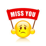 Miss you vector sign Stock Photos