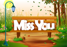 Miss You wallpaper background. Vector illustration of Miss You wallpaper background royalty free illustration