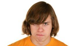 missbelåten tonåring Arkivbild