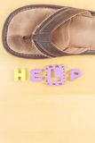 missbrukbarnhjälp Arkivbild