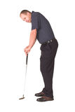 Missed again. Golfer missing an importent putt Royalty Free Stock Image