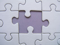 Missed blue element. Of a puzzle stock illustration