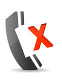 Missed call illustration icon Stock Photo