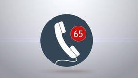 Missed calls. Many missed calls stock video