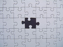 Missed element. Black missed element of a jigsaw royalty free illustration