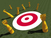 MISSED TARGET, MARK, SALES, GOAL, Royalty Free Stock Photo