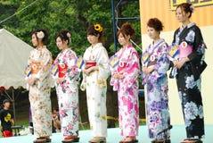 Misser Fuji City in de stad Fuji Stock Foto's