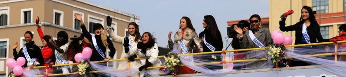 Misser International in Chengdu Stock Foto's