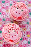 Misser piggy cupcakes royalty-vrije stock foto's
