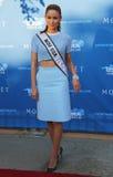 Misser USA 2014 Nia Sanchez van Nevada bij het rode tapijt vóór ceremonie van de US Open 2014 de openingsnacht Royalty-vrije Stock Foto's