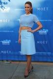 Misser USA 2014 Nia Sanchez van Nevada bij het rode tapijt vóór ceremonie van de US Open 2014 de openingsnacht Stock Afbeelding