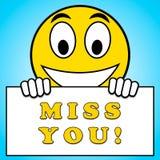 Misser You Sign Means-het Snakken 3d Illustratie Stock Illustratie