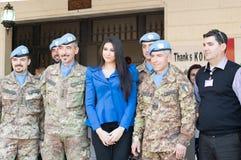 Missi Lebanon in 2013 met de UNIFIL-militairen Stock Foto