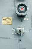 Missile alarm, warship Royalty Free Stock Images