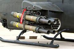Missile antichar sur l'hélicoptère Image stock