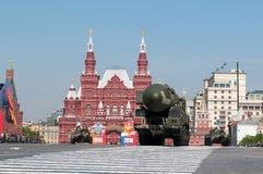 Missile balistique intercontinental nucléaire mobile Topol-M Photographie stock