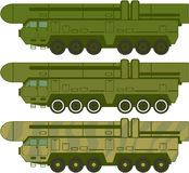 Missile carrier vector Royalty Free Stock Image