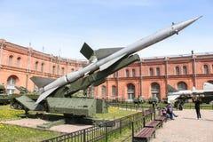 Missile contraereo sul lanciatore SM-63 Fotografia Stock