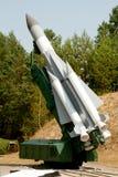Missile de fusée de défense aérien Image stock