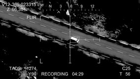 The missile hits the car stock video footage