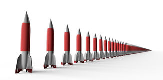Missile isolated on a back ground with cilpping path Stock Photography