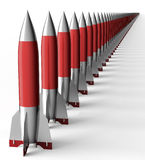 Missile isolated on a back ground with cilpping path Stock Image
